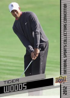 2012 Upper Deck National Wrapper Redemption Tiger Woods Card