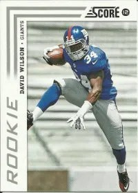 2012 David Wilson SP Short Print Score Photo Variation RC