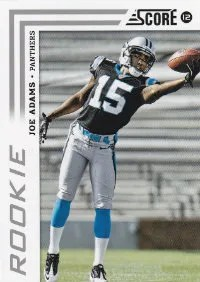 2012 Score Football Joe Adams Photo Variation RC