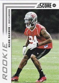 2012 Score Football Mark Barron SP Photo Variation RC