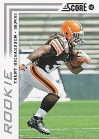 2012 Score Football Trent Richardson Photo Variation RC