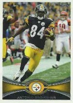 2012 Topps Antonio Brown SP Photo Variation