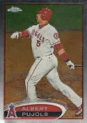 2012 Topps Chrome Albert Pujols Base Card #80