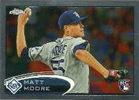 2012 Topps Chrome Matt Moore Rookie Card #160