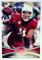2012 Topps Larry Fitzgerald SP Photo Variation #150