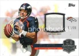 2012 Topps QB Immortals Relic John Elway Card