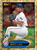 2012 Topps Update Yu Darvish Golden Moments Parallel Card