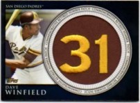 2012 Topps Series 2 Dave Winfield Retired Number Patch