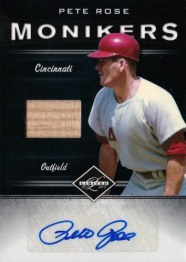 2011 Panini Limited Moniker Bat Autograph Pete Rose Card #14
