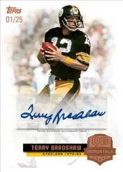 2012 Topps Football Terry Bradshaw Immortals Autograph