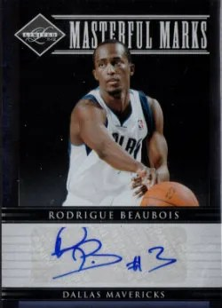 2011-12 Panini Limited Master Marks Autograph #46 Rodrigue Beaubois #/50