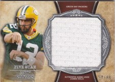 2011 Topps 5 Five Star Aaron Rodgers Jersey Card