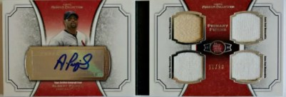 2012 Topps Museum Collection Albert Pujols Book Autograph