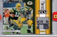 2012 Panini Black Box Aaron Rodgers Super Bowl Pylon