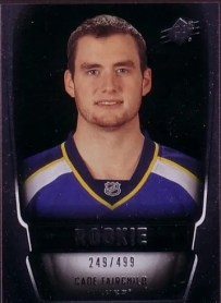 2011-12 Upper Deck SPx Cade Fairchild Rookie Card