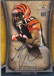 2011 Topps 5 Five Star AJ Green Autograph Rookie RC