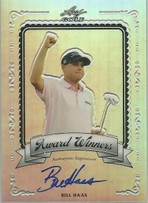 2012 Leaf Metal Golf Bill Haas Award Winners Autograph Card