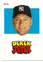 2012 Topps Archives Derek Jeter 1967 Sticker