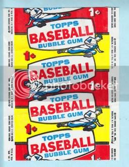1957 Topps Baseball Wrapper 1 Cent