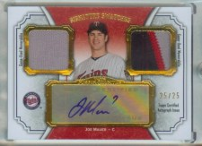 2012 Topps Museum Collection Joe Mauer Signature Swatches Dual Relic Auto