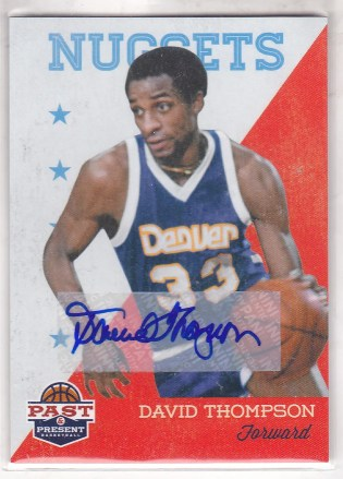 2011-12 Panini Past & Present Autograph #96 David Thompson
