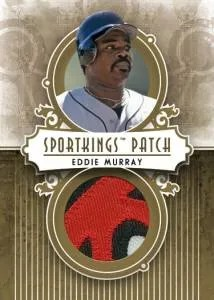 2012 Sportkings Series E Patch Card #P-08 Eddie Murray