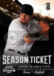 2011 Panini Contenders Josh Hamilton Season Ticket