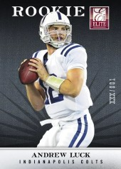 2012 Panini Elite Andrew Luck Rookie Card /999