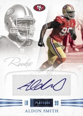 2011 Panini Playbook Aldon Smith Autograph RC Card #54