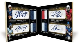 2012 Topps Inception Quad Autograph Book Card