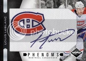 2011/12 Panini Limited Phenoms Anthology Louis LeBlanc Autograph RC