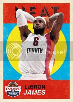 2011-12 Panini Past & Present Base Set Variation #13 LeBron James