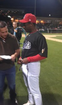 Rickey Henderson in Stockton, CA Ports