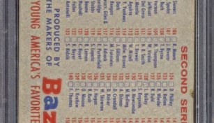 1957 Topps Bazooka Back Checklist Card