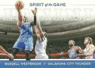12/13 Panini Spirit of the Game Russell Westbrook