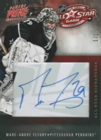 2011-12 Panini Prime All-Star Signatures #14 Marc-Andre Fleury #1/1