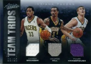 12/13 Panini Absolute Danny Granger - George Hill - Tyler Hansrbough Team Trios