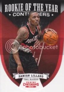 12/13 Panini ROY Contenders #5 Damian Lillard