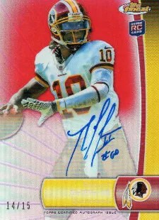 2012 Topps Finest Robert Griffin III On-Card Red Refractor Autograph #/15