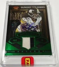 2013 Panini Black Box Sunday Soldiers Troy Polamalu Auto Jersey