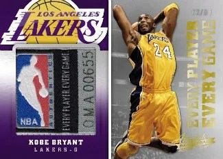 2012-13 Panini Absolute Every Player Every Game Kobe Bryant Jersey Card