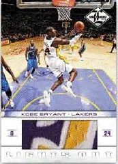 2012-13 Panini Limited Lights Out Kobe Bryant Jersey Card