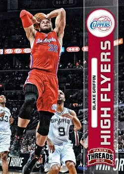 2012-13 Panini Threads Blake Griffin High Flying Insert Card