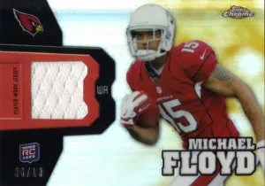 2012 Topps Chrome Michael Floyd Rookie Relic Card