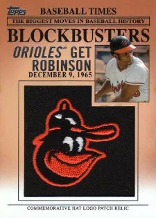 2012 Topps Update Frank Robinson Manufactured Hat Logo Card