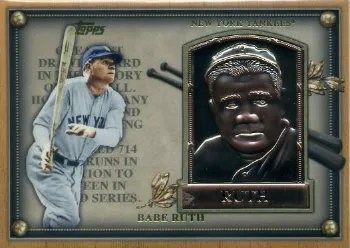 2012 Topps Update Series Babe Ruth HOF Plaque Card