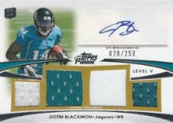 2012 Topps Prime Justin Blackmon Level V