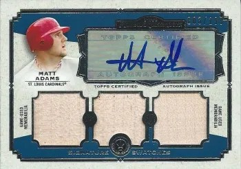 2013 Topps Museum Collection Matt Adams Triple Auto Relic