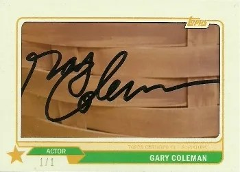 2013 Topps Archives Gary Coleman Cut Auto