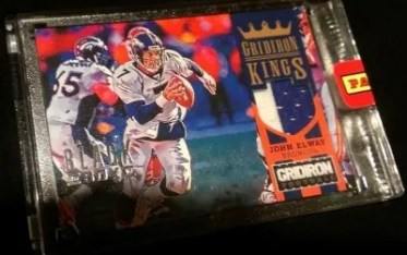 John Elway Gridiron Kings Patch From Black Box